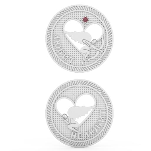 Серебряная монета  «Любит / не любит»