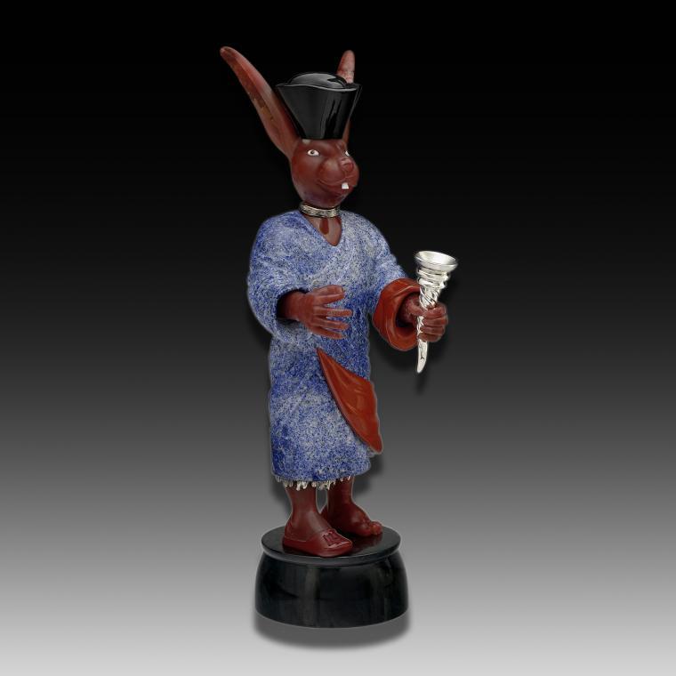 Камнерезная миниатюра «Заяц»