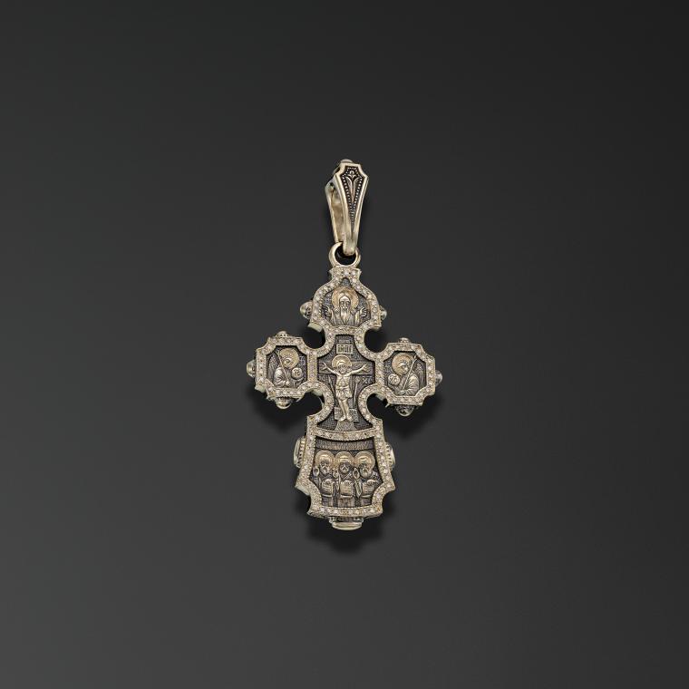 Крест килевидный «Три Святителя»