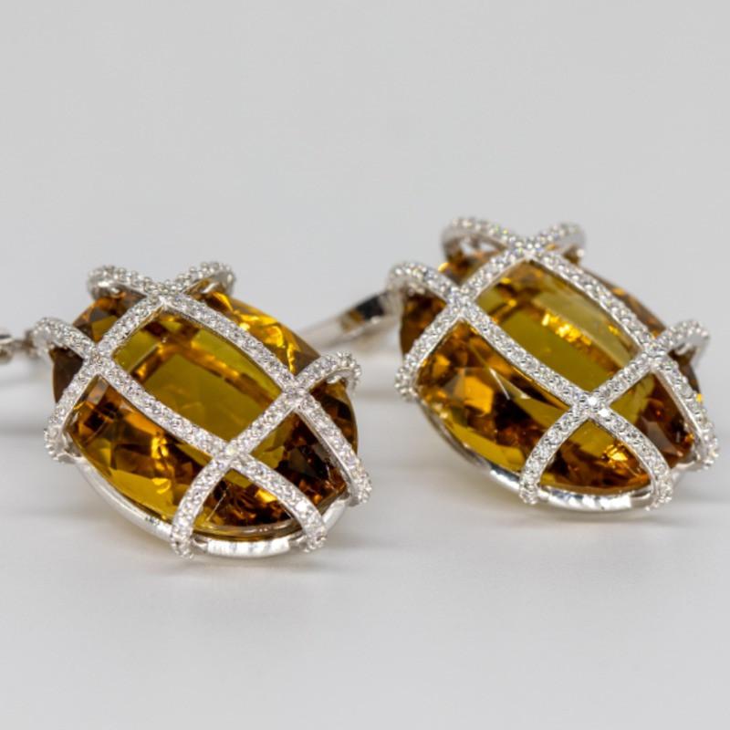 Бриллиантовые Серьги с Топазом