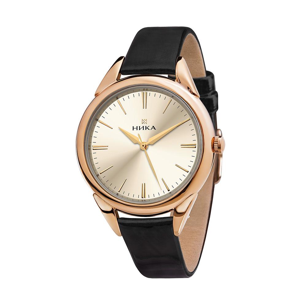 Золотые женские часы НИКА 1281.0.1.45A