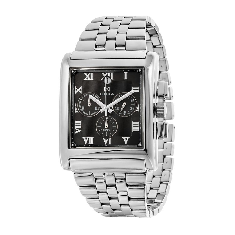 Серебряные мужские часы НИКА 1064.0.9.71H-01